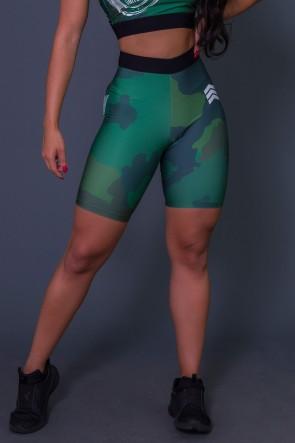 Bermuda Com Cós de Elástico Green Camo | Ref: K2606