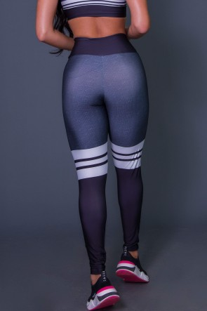 Calça Legging 3D Cotton And Stripes | Printed: K2628