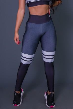 Calça Legging 3D Cotton And Stripes | Ref: K2628