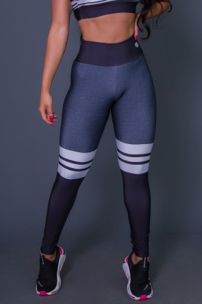 Calça Legging 3D Cotton And Stripes | Ref: K2628