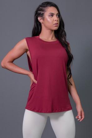 K2575-B_Camiseta_Viscose_Cavada_com_Silk_Vinho__Branco__Ref:_K2575-B