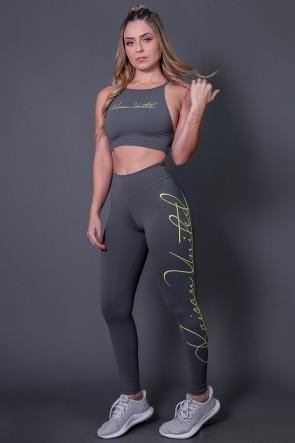 K2592-C_Calca_Legging_Fitness_com_Silk_Assinatura_Grande_Cinza_Escuro__Verde_Fluor__Ref:_K2592-C