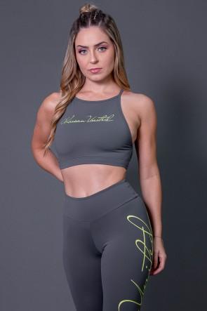 K2593-C_Top_Fitness_Transpassado_com_Silk_Assinatura_Cinza_Escuro__Verde_Fluor__Ref:_K2593-C