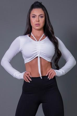 K2594-B_Cropped_Fitness_Manga_Longa_com_Detalhe_Franzido_Branco__Ref:_K2594-B