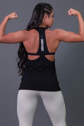 K2595-A_Camiseta_Fitness_com_Detalhe_de_Elastico_e_Silk_Love_e_Love_Preto__Branco__Ref:_K2595-A