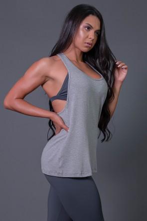 K2595-B_Camiseta_Fitness_com_Detalhe_de_Elastico_e_Silk_Love_e_Love_Mescla__Verde_Fluor__Ref:_K2595-B