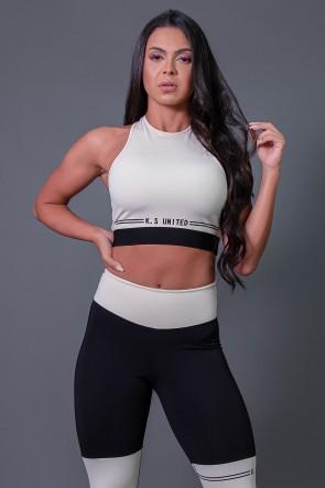K2683-A_Cropped_Fitness_Nadador_com_Silk_Off-White__Preto__Ref:_K2683-A