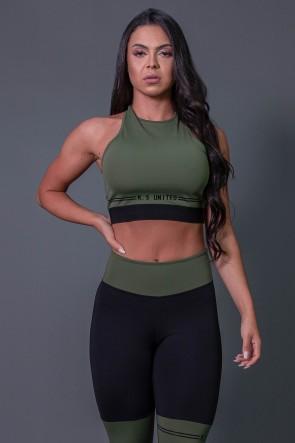 K2683-C_Cropped_Fitness_Nadador_com_Silk_Verde_Militar__Preto__Ref:_K2683-C