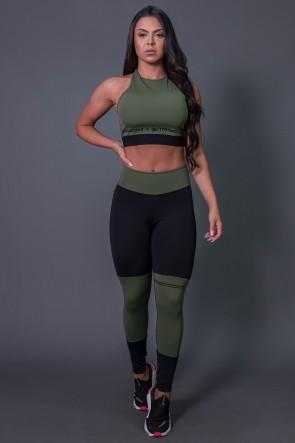 K2684-C_Calca_Legging_Fitness_com_Ponto_de_Cobertura_e_Silk_Preto__Verde_Militar__Ref:_K2684-C