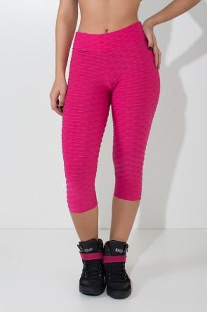 Calça Corsário Tecido Bolha (Rosa Pink) | Ref: KS-F105-013