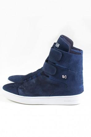 Sneaker Cano Alto Nobuck com Velcro (Azul Marinho) | Ref: KS-T46-002