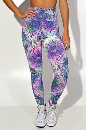 Legging Estampada Escama Colorida 5