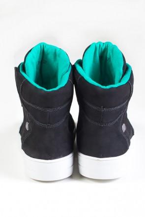 Sneaker Cano Médio Nobuck (Preto / Verde) | Ref: KS-T45-001