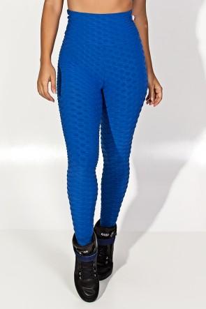 Calça Legging Tecido Bolha (Azul Royal) | Ref: KS-F103-007