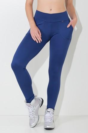 Calça Legging Lisa com Bolso (Azul Marinho) | Ref: KS-F146-003