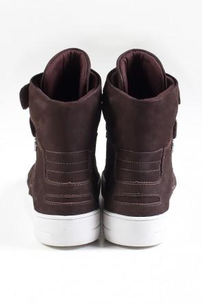Sneaker Cano Alto Nobuck com Velcro (Marrom) | Ref: KS-T46-001