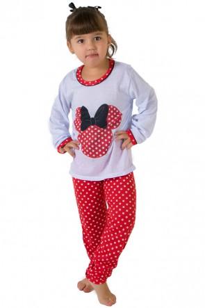 Pijama longo de Malha Infantil 012 (Vermelho) | Ref: CEZ-PA012-001