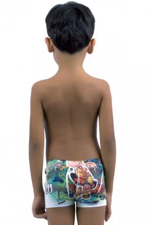Cueca Boxer Infantil Sublimada 526 (Microfibra) | Ref: C48