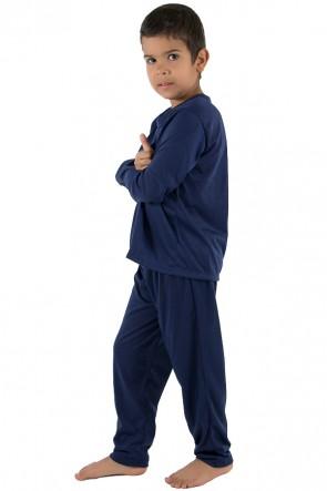 Pijama Infantil Longo 078 (Azul Marinho) CEZ-PA078-002