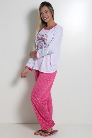 Pijama feminino longo 246 (Pink)