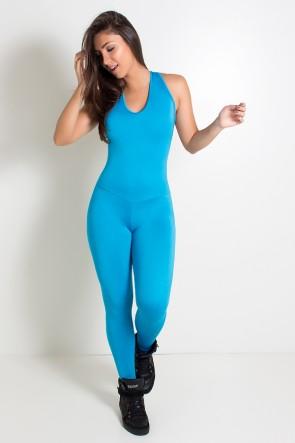 Macacão Fitness Suelene (Azul Celeste) | Ref: KS-F571-003