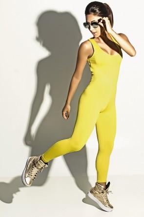 Macacão Liso Viviane (Amarelo)