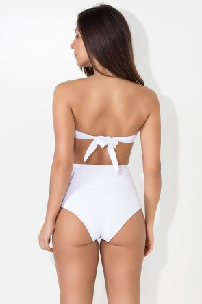 Biquini Tomara que Caia Hot Pants | Com Bojo (Branco) | Ref: DVBQ46-001