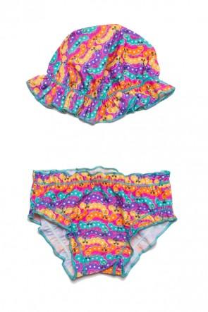 Conjunto Praia Bebê Tamanho Único (Centopeias Coloridas) | Ref: DVBQ60-004