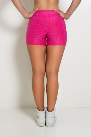 Shortinho Cós Baixo Tecido Bolha (Rosa Pink) | Ref: KS-F937-008