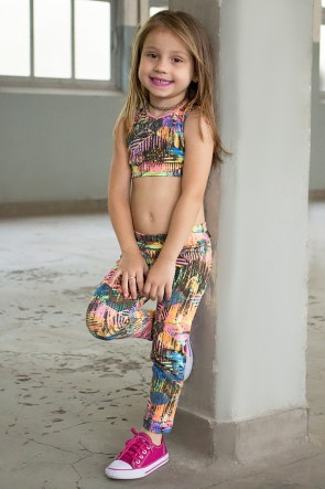 Kit com 5 (cinco) Leggings Infantis com Estampas Variadas (G) | Ref: KS-KI01-003