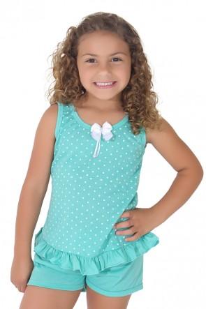 Babydoll infantil 203 Verde | CEZ-PA-203-001