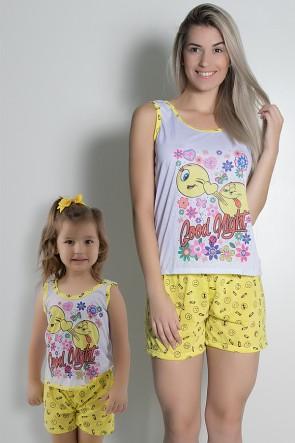 Kit de Babydoll Tal mãe e tal filha (Amarelo) | Ref: CEZ-PA204-PA217-001