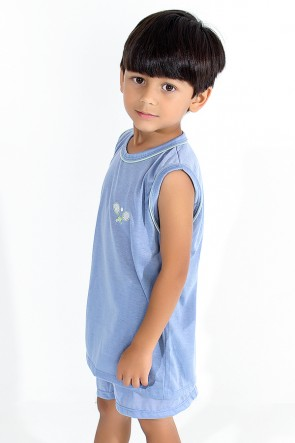 Pijama infantil Mas. Regata 142 (Azul Acinzentado)