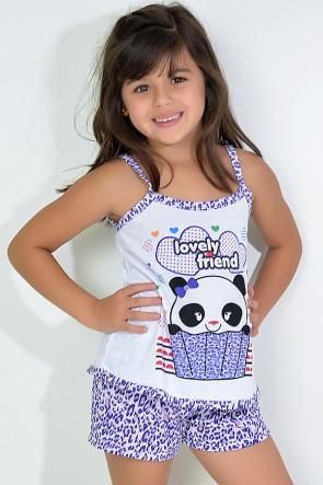 Babydoll Infantil 201 (Roxo com panda)