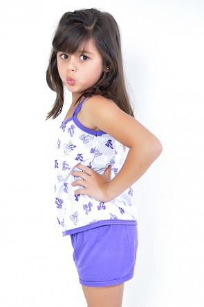 Babydoll Infantil 086 (Roxo) - AB