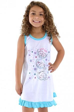 Camisola Infantil 060 (Azul com ursinho) AB Ref: CEZ-CM09-002