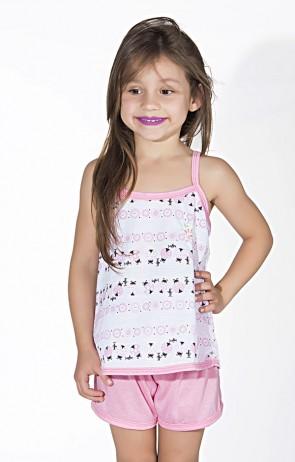 Babydoll Infantil 086 (Rosa)