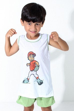 Pijama infantil Mas. Regata 039 (Verde)