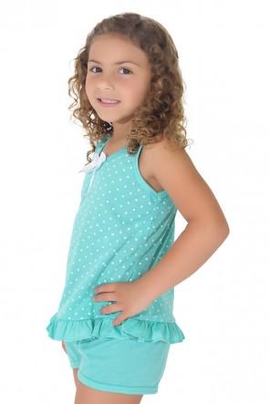 Babydoll infantil 203 Verde | CEZ-PA-059-001