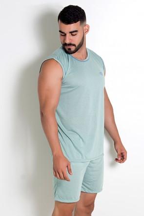 Pijama Masculino Camiseta 072 (Verde claro)