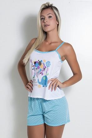 Babydoll Feminino 267 (Azul) |CEZ-PA267-008
