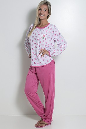 Pijama Longo 075 (Pink)