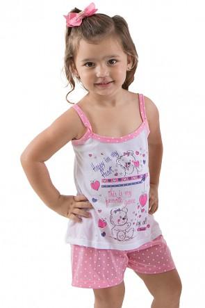 Babydoll Infantil 268 (Rosa) | Ref: CEZ-PA268-001