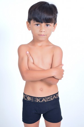 Kit com 3 Cuecas Boxer Infantil - Ribana (177)