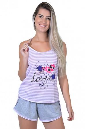 Babydoll Feminino 258 (Lilás love)