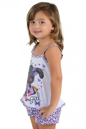 Baby-doll de malha Infantil 201 (Roxo) | Ref.: CEZ-PA201-001