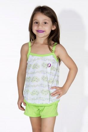 Babydoll Infantil 086 (verde limão)