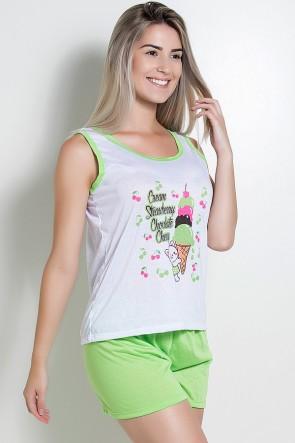 Babydoll Feminino 052 (Verde sorvete)
