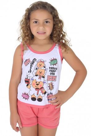 Babydoll Infantil 056 (Goiaba) | Ref: CEZ-PA056-001