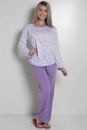 Pijama Longo 075 (Lilás) AB